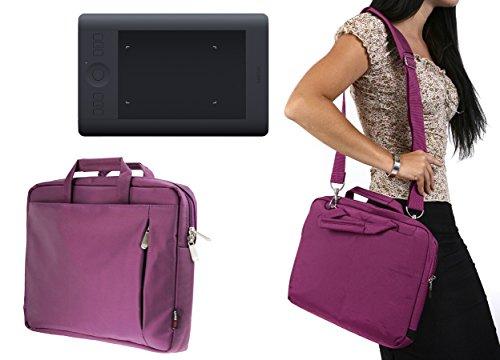 Navitech Lila Tragbarer Grafiktablett Tasche Schutz hülle für den Ugee M708