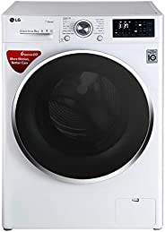 LG 8 kg Inverter Fully-Automatic Front Loading Washing Machine (FHT1208SWW, White, Inbuilt Heater)