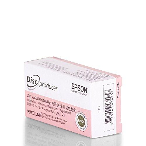 Original Tinte passend für Epson Discproducer PP 50 Epson PJIC3 C13S020449, S020449 - Premium Drucker-Patrone - Magenta hell - 26 ml (Discproducer Epson)