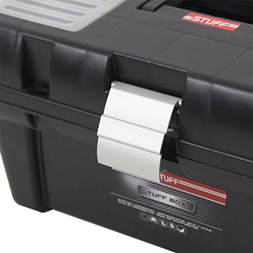 Kunststoff Werkzeugkoffer STUFF Semi Profi Alu 16″, 41x22cm Kasten Werzeugkiste Sortimentskasten Werkzeugkasten Anglerkoffer - 4