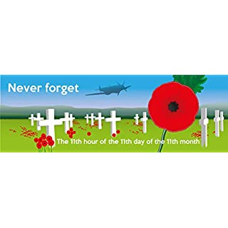 Artisticky POPPY REMEMBRANCE DAY self-cling sticker for Car/Van/Home/Office/Window - Freepost UK