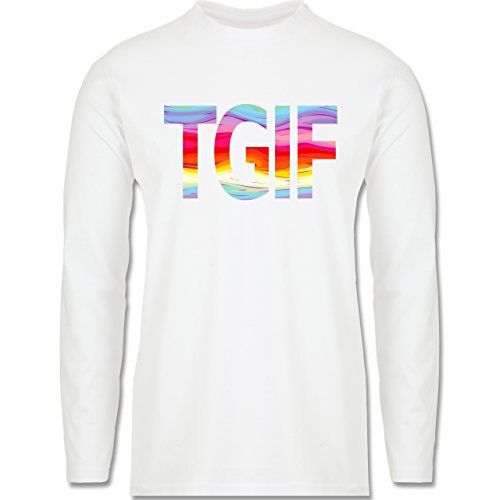 Statement Shirts - Thank god it's friday - Longsleeve / langärmeliges T-Shirt für Herren Weiß