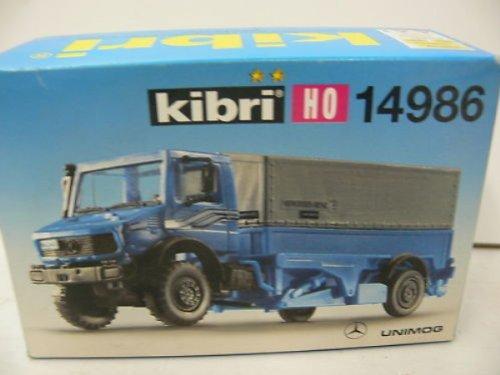 Preisvergleich Produktbild Kibri 14986 - UNIMOG Triebkopfhubwagen mit Plane