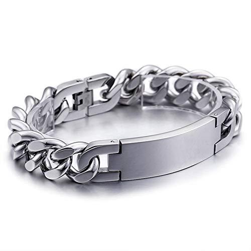 ZYLBS Männer Fortgeschritten Titan Stahl Armband Kartenrad Mode Einfach Charme Armband Kreativ Männer Trend Zubehör Geschenk -