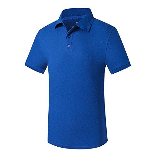 VB Frauen Männer T-Shirt aus reiner Baumwolle mit kurzen Ärmeln Revers Taste Benutzerdefinierte Gruppen, Farbe Blau, S (Farbe-schwarz T-shirt Benutzerdefinierte)