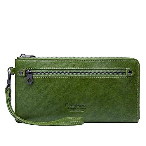 Haixin Mode Damen Leder-Geldbörse, Lange Stil Reißverschluss Geldbörse, Handtasche, Damen Geschenk