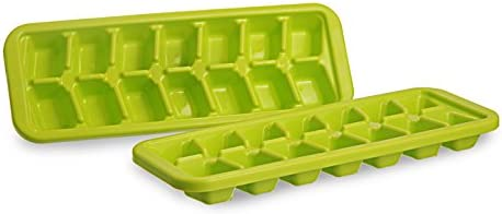 All Time Plastics Cool Ice Cube Tray Set, Set of 2, Green
