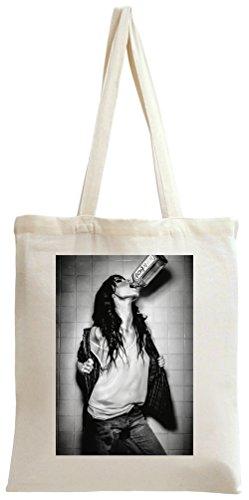 Drunk Girl Lady Jim Beam Tote Bag -