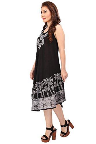 Miss Lavish - Robe - Tunique - Sans Manche - Femme multicolore crème taille unique Noir/argenté
