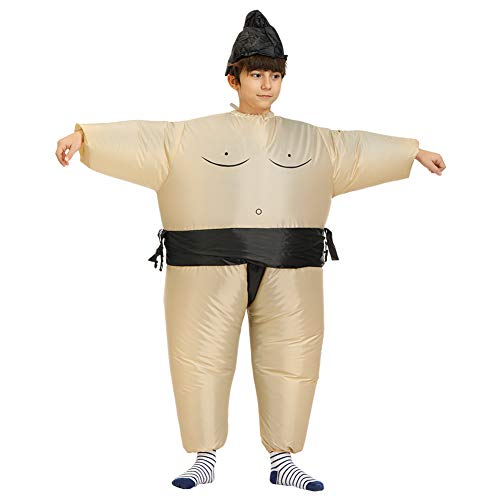 Kostüm Kids Up Cowboy Dress - MSQL Aufblasbares Sumo-Kostüm, Halloween-Kostüm Blow Up Funny Novelty Cosplay, wasserdicht, einschließlich Hüte und Fans,Child