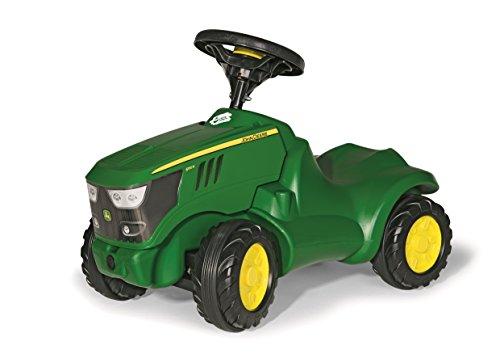 *Rolly Toys 132072 Traktor Minitrac John Deere 6150R, Babyrutscher, Motorhaube öffenbar, Ablagefach unter Motorhaube, Lenkrad mit Hupe (für Kinder ab 1,5 Jahren, Farbe: Grün)*