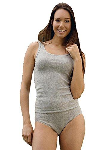 Engel Natur Damen-Achselhemd aus 100% kbA-Baumwolle Hellgrau Melange