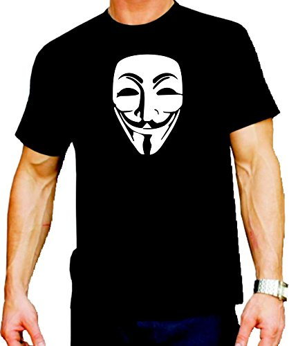 feuer1 T-Shirt Anonymous Guy Fawkes Maske, fluoreszierend (glow in the dark)