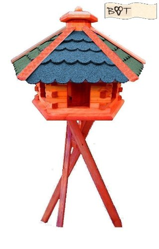 Bird Feeder Xxxl Vöglehus B60g Bems With Stand In Wood With Silo Bird Feeder Bird House Bird Feeder