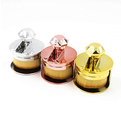 1PC Ultra Round-Verfassungs-Bürsten-Shaped Flachdichtung Bases Bürsten-Kosmetik-Pinsel Mit...
