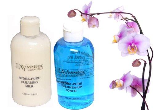 ITAY Mineral Cosmetics Hydra-pure hydratant Lait nettoyant 250 ml et Freshen-up Facial Toner 250 ml