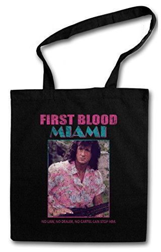 Urban Backwoods First Blood Miami Hipster Shopping Cotton Bag - Vice John Rambo Sylvester Fun 80s Stallone