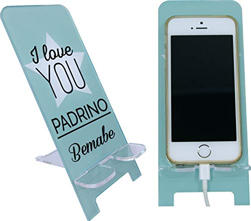 I love you Padrino - Porta teléfono móvil personalizable (regalo de