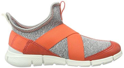 ECCO Intrinsic Sneaker, Scarpe da Ginnastica Basse Bambina Arancione (50384coral Blush/concrete-black)