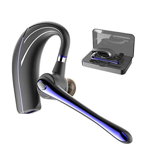 Bluetooth Headset,Wrieless OhrhörerBluetooth Kopfhörer V5.0 Freisprechen mit Mikrofon für Business/Büro/Fahren (Blau)