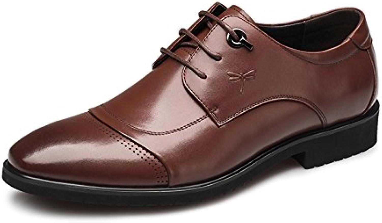 Los hombres jóvenes Aemember'S trajes de vestir zapatos, zapatos de hombre Brown ,39,