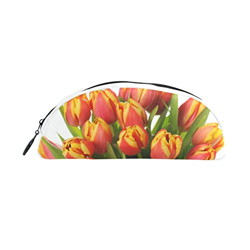 Bleistift Fall Halter Schöne Bouquet von Tulpen in Vase Stift Stationery Tasche Tasche mit Reißverschluss Make-up für Kinder Mädchen Jungen (In Bulk Vasen Weiße)