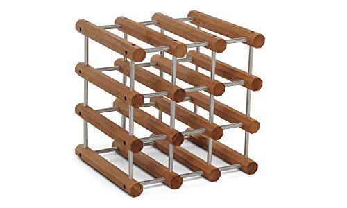 Foppapedretti il cantiniere portabottiglie modulare, in legno, alluminio/noce