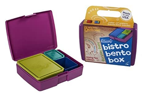 Bento Lunch Box - USA Made Leakproof Durable Food Containers - For Kids and Adults - Purple by Laptop Lunches Bento-ware