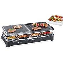 Severin - 2341 - Raclette multifonctions - gril - 4 mini crêpes - pierre de cuisson - 1500 W - 8 poêlons - noir (Certifié Reconditionné)