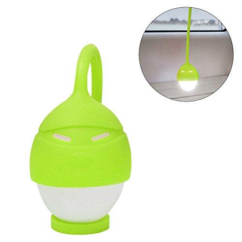 ledmomo luz nocturna LED portátil lámpara de bolsillo en forma de huevo con puerto USB luz nocturna recargable para Camping, bicicleta, cámara, bolsa (verde)