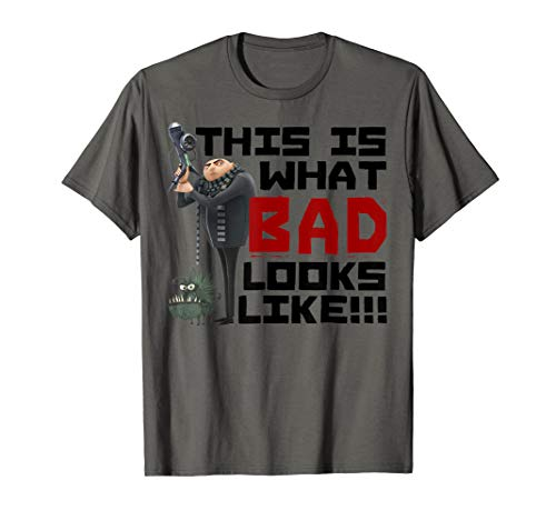 Despicable Me This Is What Bad Looks Like Gru And Dog T-Shirt (Me Dog Despicable)
