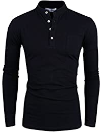 Tom's Ware T-Shirt-Contraste manches longues Henley-Hommes
