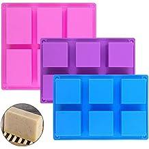 Rectángulo de 1 PC & 2 piezas de moldes de jabón de silicona cuadrados,SENHAI