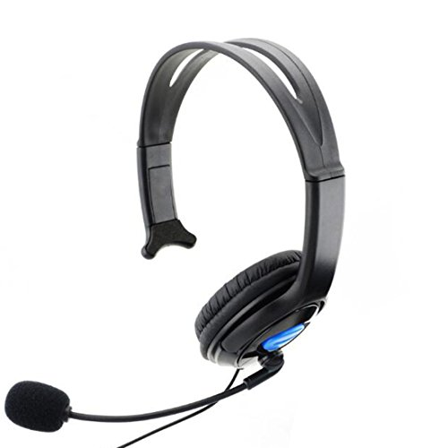Wired Gaming chat Headset auricular micrófono para Sony PS4Playstation 4, color negro