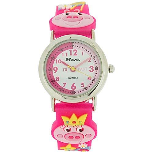 Ravel R1513.63 - Reloj para niñas, Correa de Goma Color Rosa