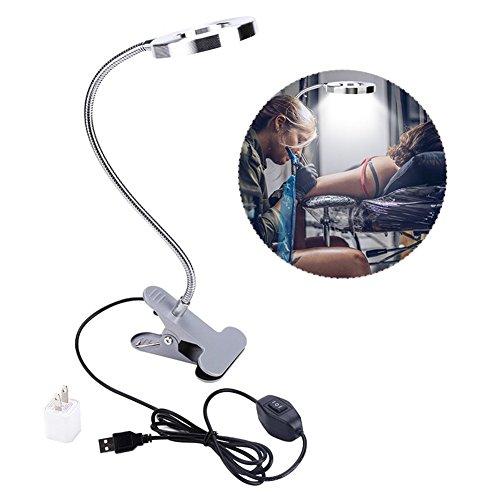 LED USB Tattoo Schönheit Lampe, Augenbrauen Lippen Tätowierungs Schönheits Salon Desktop führte Lichter mit Klipp für Augenbraue Tattoo Maniküre Wimpernverlängerung Lesen geeignet (Led-desktop-lupe)