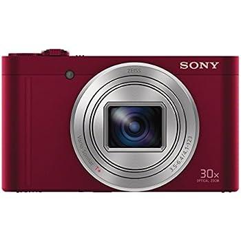 Sony DSC-WX500 Kompaktkamera (7,5 cm (3 Zoll) Display, 30x opt. Zoom, 60x Klarbild-Zoom, 5-Achsen Bildstabilisator, Full HD-Video) rot