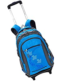 Preisvergleich für zhbotaolang Rucksäcke Rollen Rucksack Rädern Koffer - Kinder Unisex Schule Reise Nylon Abnehmbaren Trolley Taschen...