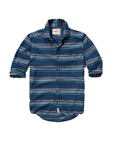 new-hollister-poplin-striped-shirt-small-s-blue-navy-red-polo-shirt-men