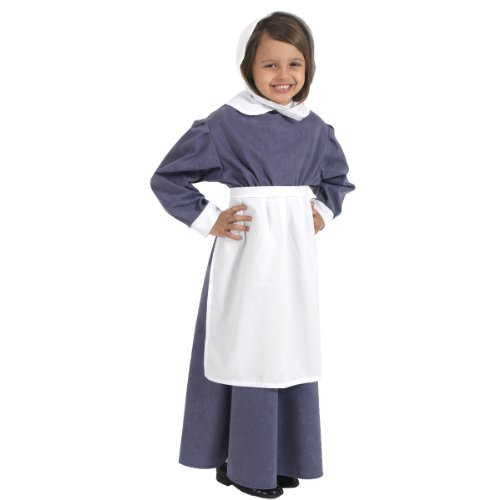 White Apron Costume for kids one size fits all. (Includes Apron only). by Charlie (Crow The Kostüm Kinder Für)