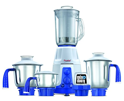 Prestige Deluxe Plus VS (750 Watt) Mixer Grinder with 3 Stainless Steel Jar + 1 Mix-o-Keep Jar+1 Juice Extractor