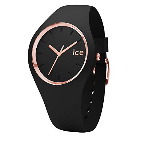 Ice-Watch - Ice Glam Black Rose-Gold - Orologio Nero Da Donna Con Cinturino...
