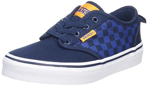 Vans Jungen Yt Atwood Slip-On Sneakers Blau (Checkers Blue/orange)