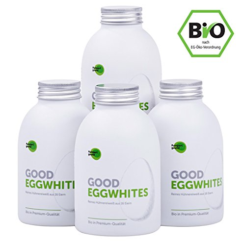 Bio Eiklar • Flüssiges Eiweiß • Good Eggwhites • 4x483ml • Gesund...