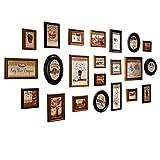 Vintage Legno Cornici Foto Collage Set Multiple da Parete Appendere Portafoto Cornice per 22 Foto Wall Decor Verticale o Orizzontale con Vetro Trasparenti