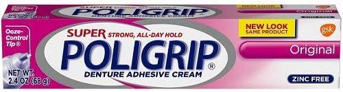 Poligrip Super Denture Adhesive Cream - 68 Gm