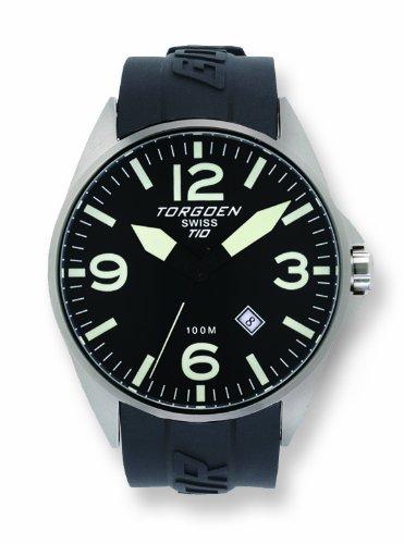 Torgoen - T10303 - Montre Homme - Quartz Analogique - Cadran Noir - Bracelet Plastique Noir