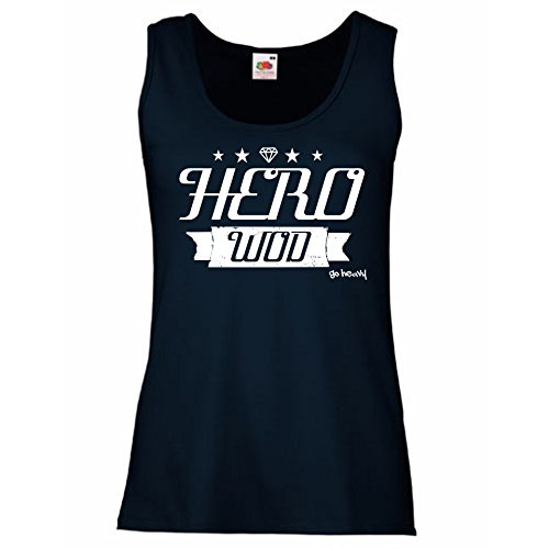 Go Heavy Tank Top para mujer - HERO WOD - azul L