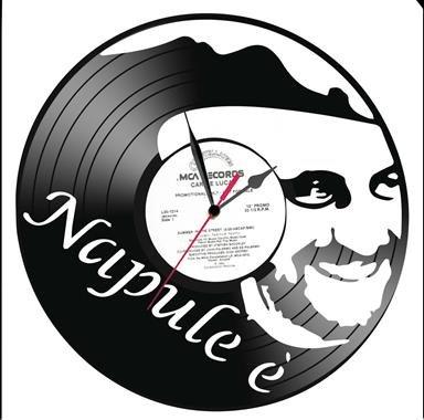 Orologio-su-disco-di-Vinile-PINO-DANIELE-NAPULE-realizzato-a-mano-IDEA-REGALO
