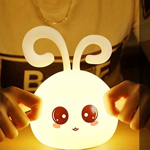 Veilleuse De Chargement USB, Lampe De Table Créative En Silicone Avec Dessin Animé Mignon, Lumière Portable Pour Chambre À Coucher Dans Un Dortoir (lumière Tiède, Lumière Rouge, Lumière Verte, Lumière